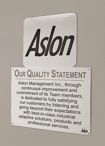 Commitment to Quality Aslon