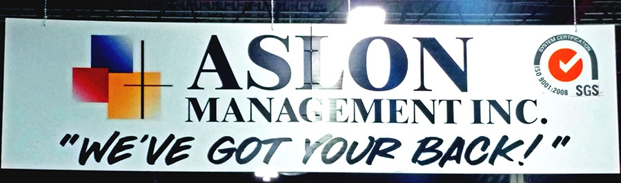 Our Motto Aslon We've Got Your Back